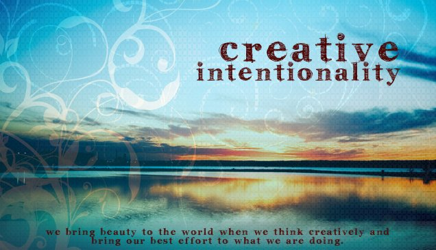 Value Word Art - Creative Intentionality