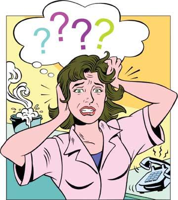 Stressed Woman Cartoon