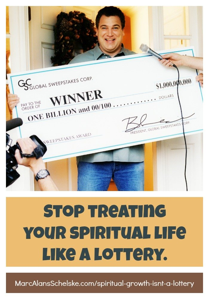 Quote - Spiritual Growth Lottery