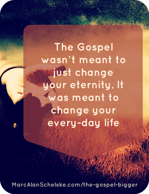 The gospel is about more than just two moments in your life! Photo Credit  Unknown