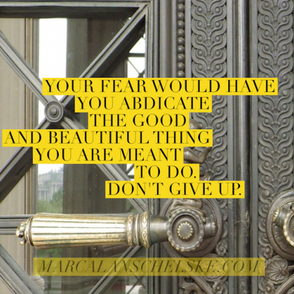 Quote - Don't Abdicate