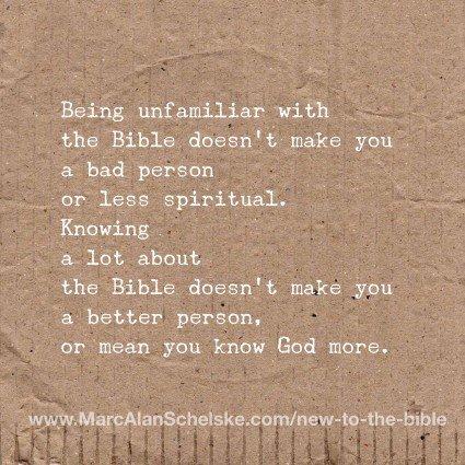 Quote-Unfamiliar Bible