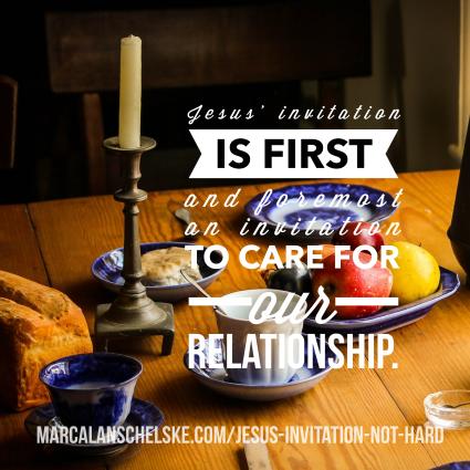 Quote - Jesus Invtes to Relationship
