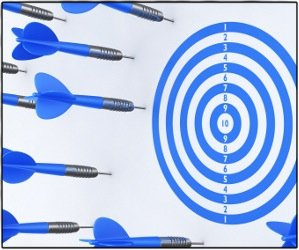 Dart arrows missing target